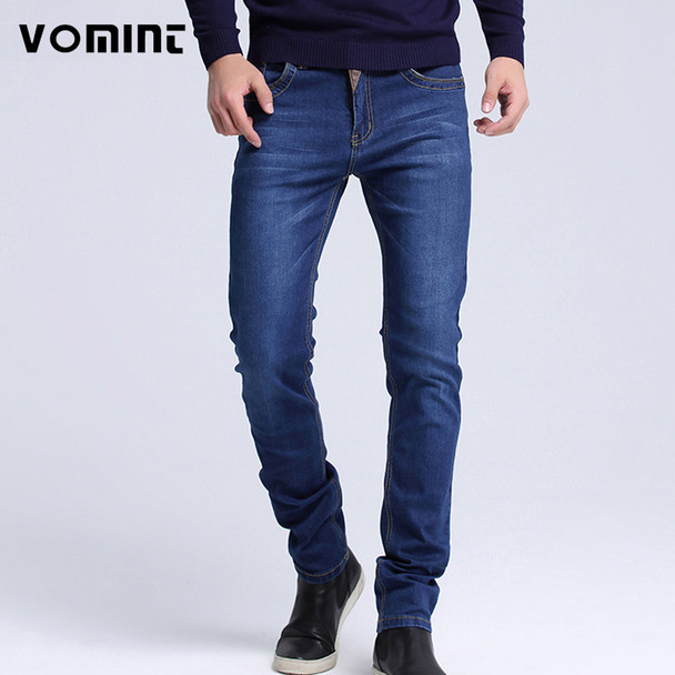 Mens jeans New Fashion Men Casual Jeans Slim Straight High Elasticity Feet Jeans Loose Waist Long Trousers hot sell S6CJ064