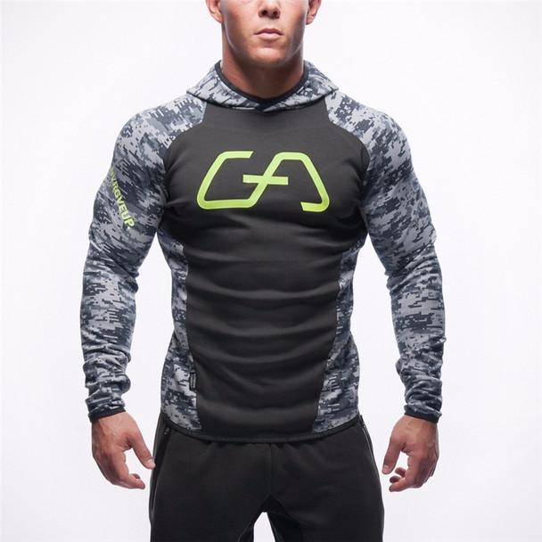 2016 Men Casual Hoodies Fitness Brand Clothing Camisetas Tracksuits Men Bodybuilding Sweatshirt Muscle Hooded Jackets