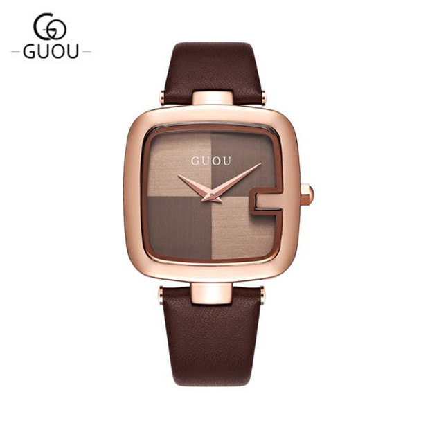 Women's Watches GUOU Montre Femme Fashion Ladies Bracelet Watches For Women