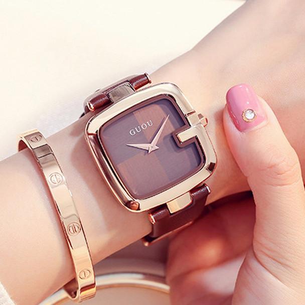 Women's Watches GUOU Montre Femme Fashion Ladies Bracelet Watches For Women Watch Women Luxury Square Clock reloj mujer saat
