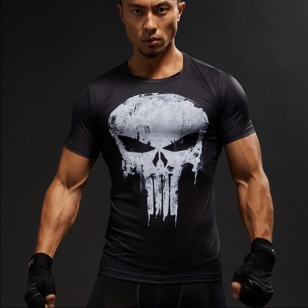 2018 Captain America 3D T-shirt Men's Fitness Compression Shirt Top Male Print Super Hero Superman Punisher Crossfit