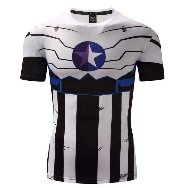 Captain America 3D T Shirt Men T-Shirt Male Crossfit Tops Print Anime Superhero Superman tshirt Men Fitness Compression Shirt