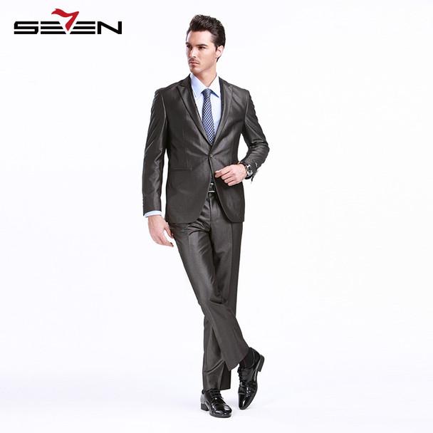 Seven7 Groom Wedding Suit For Men Formal Slim Fit Tuxedos Prom Suits Set Latest Designs Male Pants Jacket Clothes 2018 703C1293