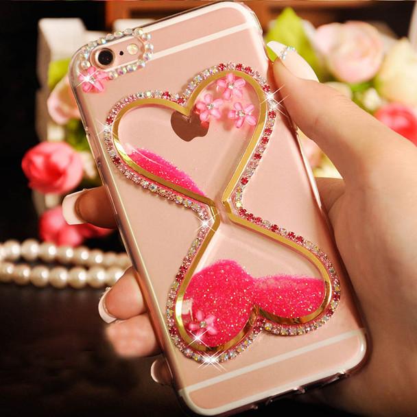Heart Cup Cover+Bling Glitter Diamond Quicksand Phone Case For xiaomi Max 2/Mix 2/mi6/5X/A1/A2/Redmi 5 plus/4A/4x/Note 4x/5A/Pro