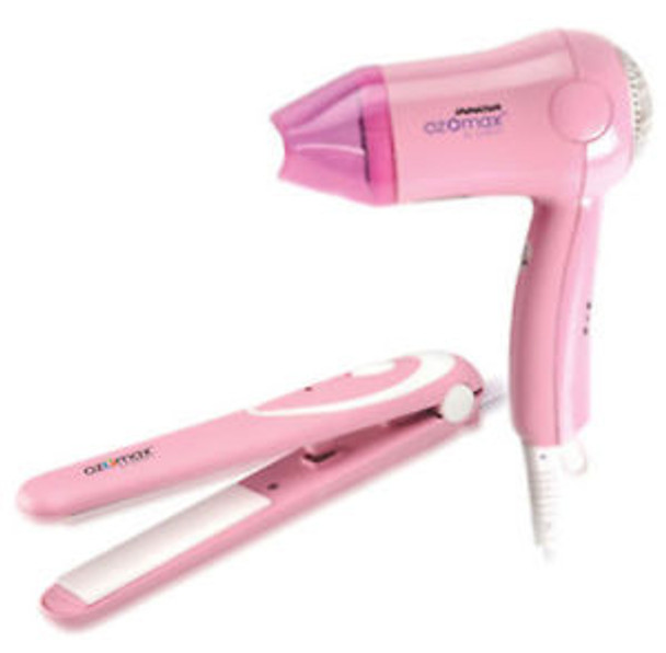 Ozomax Miss Stylish Hair Styling Combo (Hair Straightener + Hair Dryer)
