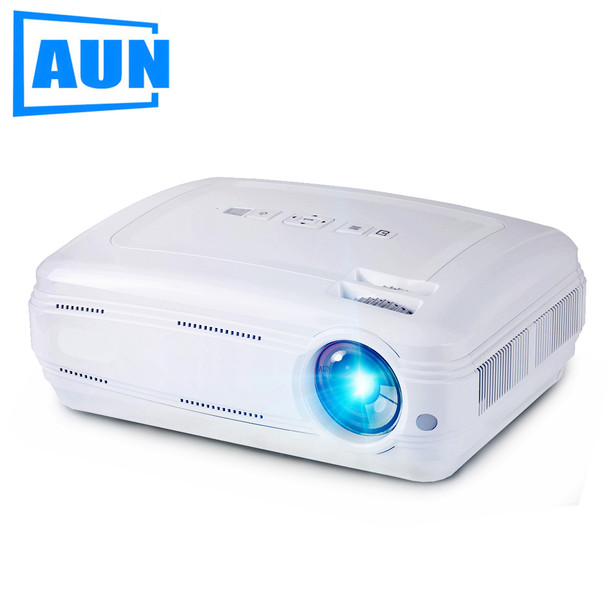AUN AKEY2 3500 Lumens LED Projector, Built-in WIFI, Bluetooth, Support 4K Video Full HD 1080P LED TV Upgrade Android 7.0 Beamer