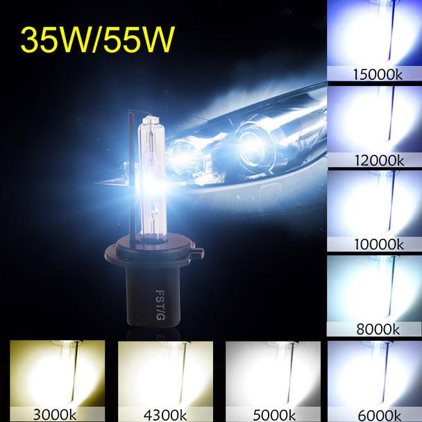 1Pair Car Headlight HID Xenon H7 Bulb 35W 55W 3000K 4300K 5000K 6000K 8000K 10000K 12000K Auto Lamp 12V H7 Xenon Bulbs Fog Light