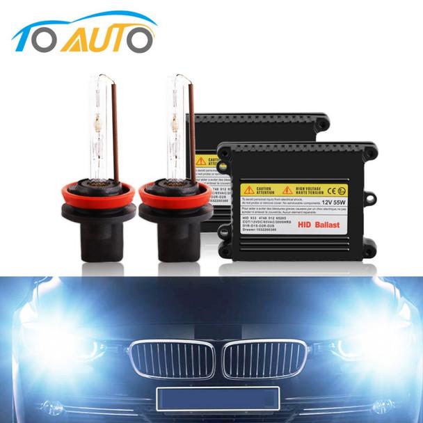 HID Bixenon Kit Xenon H8 H11 Bulbs 6000k 35w 55w 4300k 8000k 10000k Automobiles Headlight h11 xenon fog lamp light