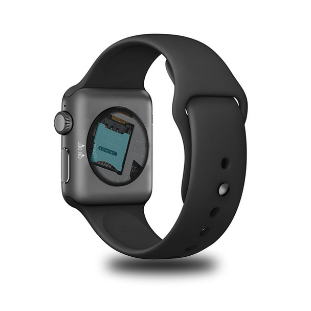 Slimy DM09 Bluetooth Smart Watch HD Screen Support SIM Card Wearable Devices Clock Hours for IOS Android System with Heart Rate