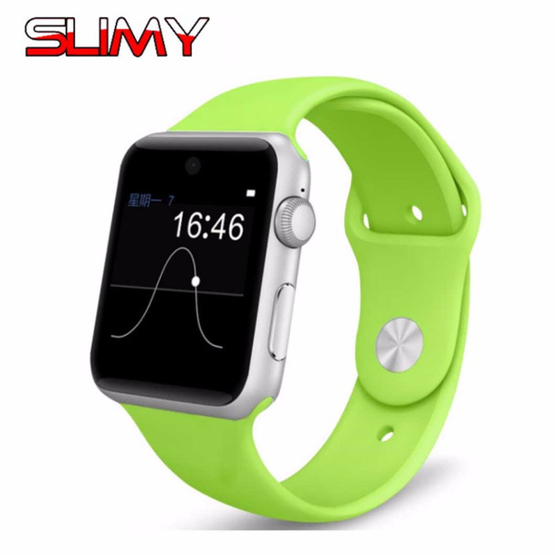 Slimy DM09 Bluetooth Smart Watch Heart Rate Pedometer Anti-lost Fitness Tracker 2.5D ARC HD Screen Support SIM Card Smartwatch