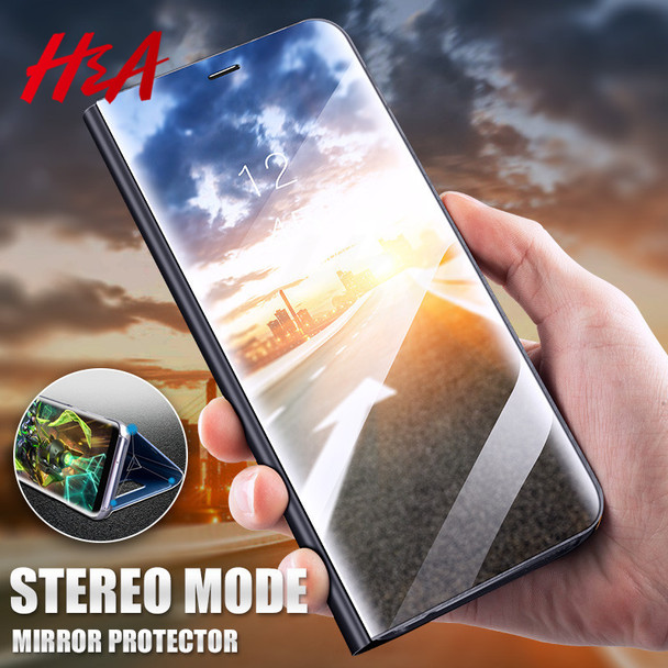 H&A Luxury 360 Flip View Smart Mirror Case For Samsung Galaxy S9 S8 Plus Phone Cover For Samsung S7 Edge Note 8 Flip Stand Case