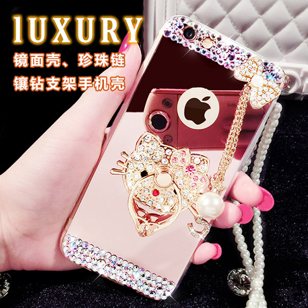 Bling Star Crystal Rhinestone Diamond Case For iphone 6 Plus 5 5S 7 7 plus Phone Case Back Cover Hello Kitty Case
