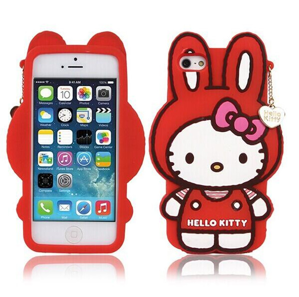 21810de31dce1c Cartoon Hello Kitty Case For Funda iPhone 6 6S Case Luxury Silicone Capinha  Cute Rabbit Coque For Capa Para iPhone 6 Plus Cases - OnshopDeals.Com