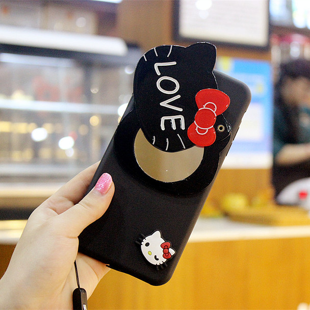 3D Hello Kitty Mirror Phone Cases For iPhone 7 7plus Case Silicone Cartoon Soft TPU Cute Cover For iPhone 6s 6 plus 5s