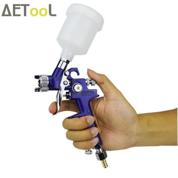 AETool 0.8mm/1.0mm Nozzle H-2000 Professional HVLP Spray Gun Mini Air Paint Spray Guns Airbrush For Painting Car Aerograph