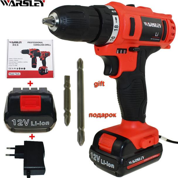 12v Cordless Drill Electric Drill Electric Tools Mini Electric Drilling Eu Plug Battery Drill Electric Screwdriver Power Tools