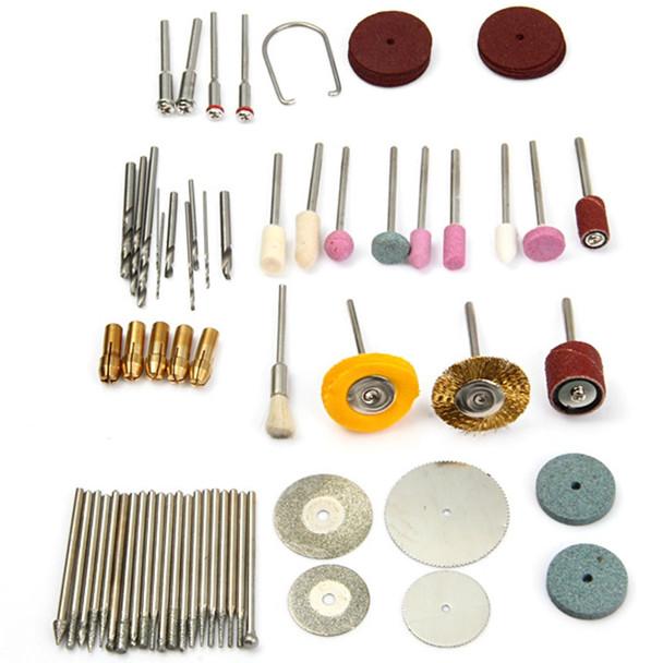 80pcs 12W Mini Electric Drill Multi-functional Grinder Polish Sanding Rotary Tool Set Kit Dremel Bit Case With Box US EU Plug