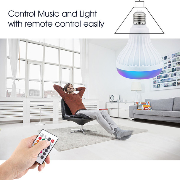 PLEXTONE E27 Wireless Bluetooth Speaker +12W RGB Bulb LED Lamp 110V 220V Smart Led Light Music Player Audio with Remote Control