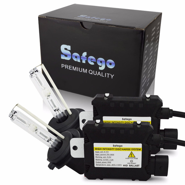 Safego kit Xenon Hid Kit 55W H4 H1 H3 xenon H7 H8 H10 H11 H27 HB3 HB4 H13 9005 9006 HID xenon kit Car Headlight bulbs lamp