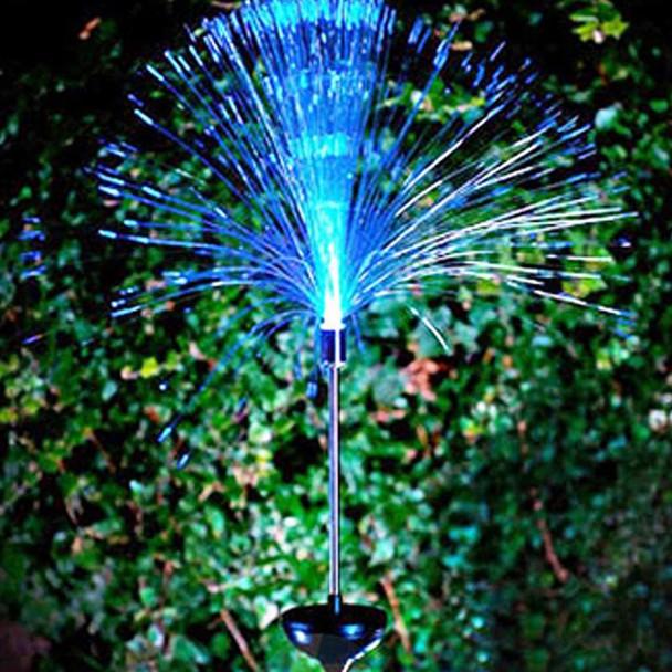 2pcs Multicolor LED Fiber Optic Lamp Light Holiday Centerpiece Optic Fiber LED Lighting garden waterproof Lawn light night lamp