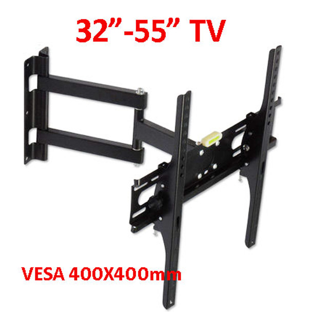 "DL-WA-150ST 400X400 full motion 45kg 40"" 42"" 46"" 55"" retractable swivel LCD PLASMA tv bracket lcd wall mount led stand holder"