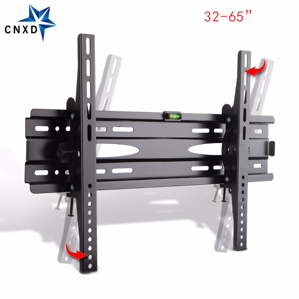 CNXD Universal TV Wall Mount Adjustable Ultra Slim Plasma Tilted Monitor LCD LED HD TV Wall  Bracket Suitable For 32''-65''