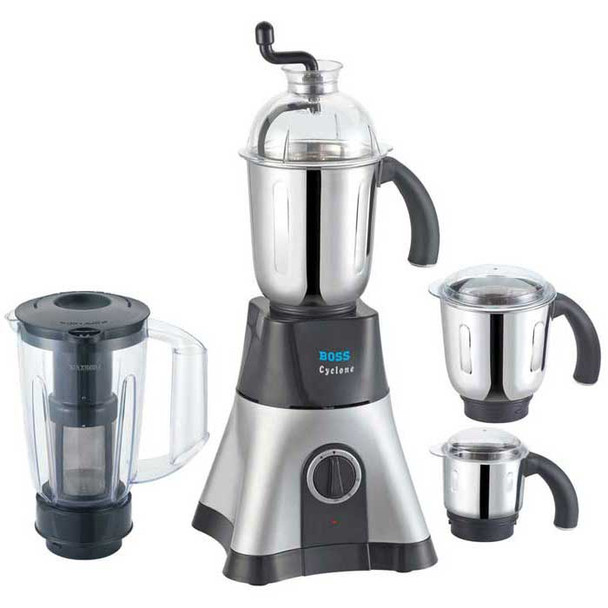 Boss Cyclone 750 Watts Mixer Grinder with 4 Jars (Boss B219) Best Deal Price: ₹4385