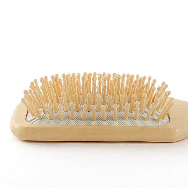 1PCS 2 Colors Hair Care Wooden Spa Massage Comb Wooden Paddle Pointed Handle Teeth Hair Brush Antistatic Cushion Comb