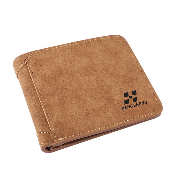 New fashion Men Portable PU Leather Purse Wallet ID Credit Card Holder Clutch Bifold Coin Pockets