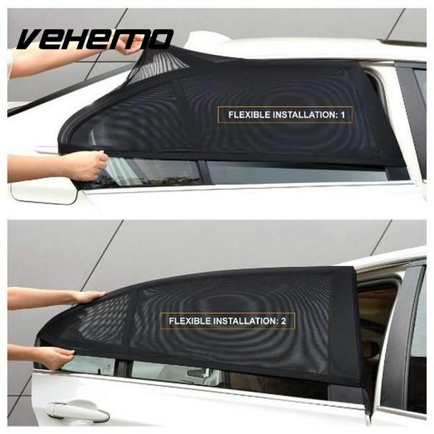2Pcs Car Window Cover Sunshade Curtain UV Protection Shield Sun Shade Visor Mesh Solar Mosquito Dust Protection Car-covers New
