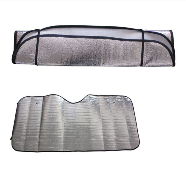 2016 New Hot 1Pc Casual Foldable Universal Car Windshield Visor Cover Front Rear Block Window Sun Shade Free Shipping&Wholesale