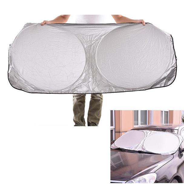 UV Protect Car Window Film Hot Auto Visor Windshield Windscreen Sun Block Cover Folding Jumbo Front Rear Car Window Sun Shade