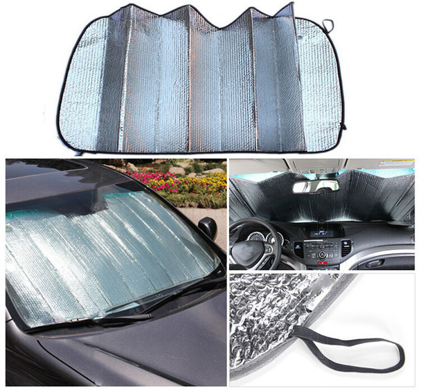 Car Sun Shade Window windshield Sunshade Covers Visor front car Screen foldable Bubbles Auto for Toyota Auris for Renault Clio 2