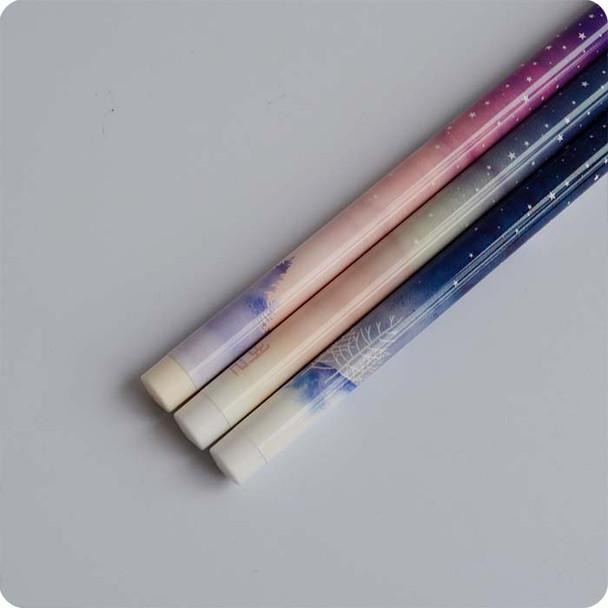 3 pcs/lot 0.35 mm Good Night Starry Sky Gel Pen Ink Marker Pen School Office Supply Escolar Papelaria Office Signature Pen