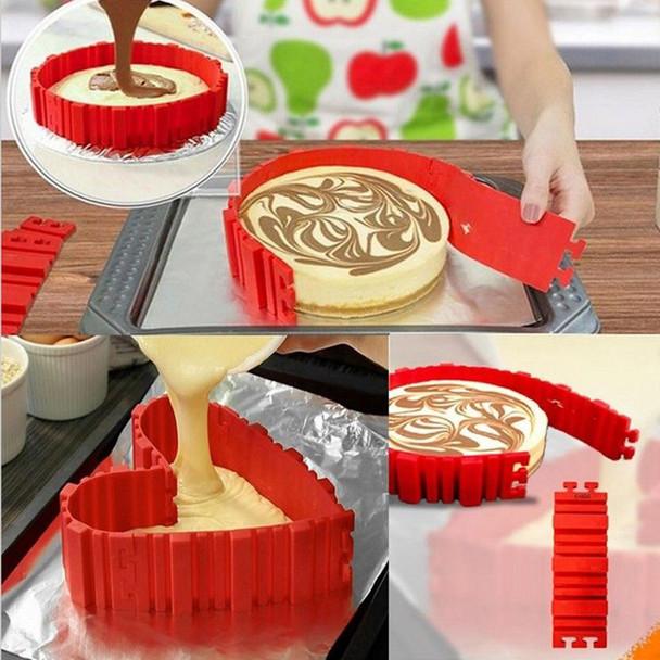 1 Pcs Bakeware Bake Tools Self Design Silicone Cake Tool Stitch DIY Cake Baking square rectangular Round Shape Tool