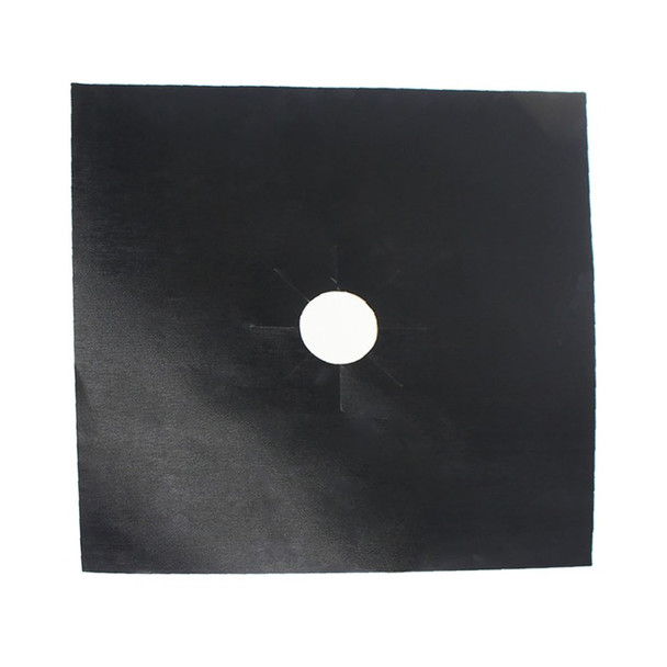 4Pcs/set Black Reusable Foil Gas Hob Range Stovetop Burner Protector Liner Cover For Cleaning Kitchen Tools