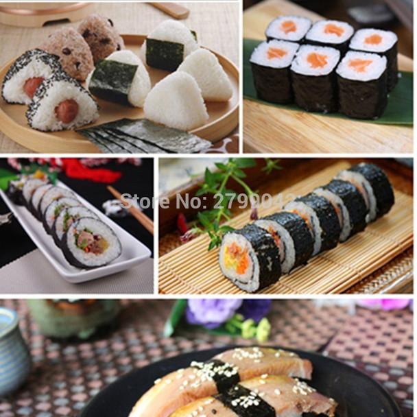 1Pcs/Set DIY Easy Sushi Maker Equipment Kit Japanese Rice Ball Cake Roll Mold Sushi Multifunctional Mould Making Sushi Tools