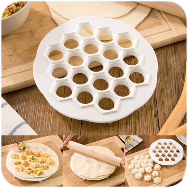 1Time to do 19 dumplings!!New Dumpling Mold Maker Kitchen Dough Press Ravioli DIY 19 Holes Dumplings Maker Mold Cooking Tools