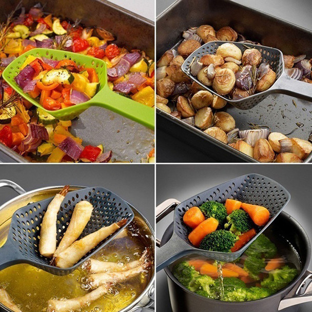 2018 Multicolor Kitchen High temperature resistance Large Scoop Colander Pasta Heat Resistant Strainer Big spoon Convenient#YY