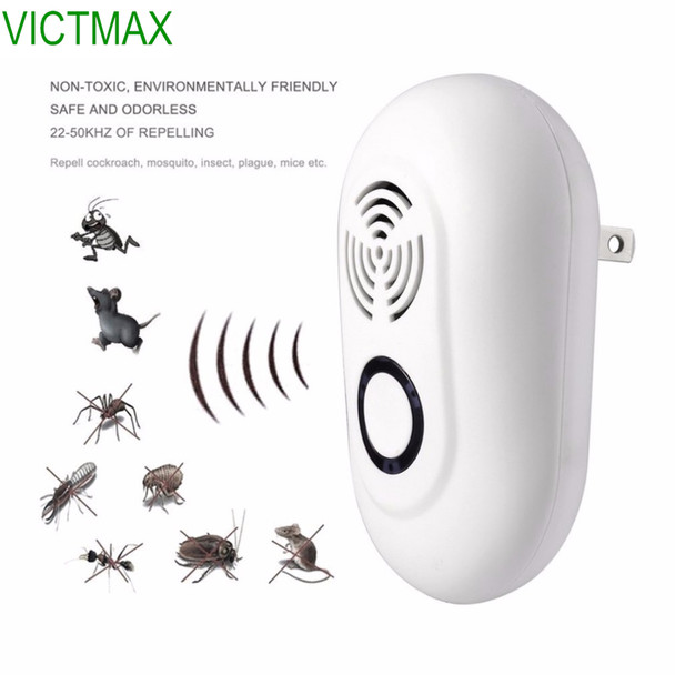 VICTMAX 3W Electronic Ultrasonic Pest Repeller Multi-function Mice Pest Reject Insect Killer Rat Mouse Repellent