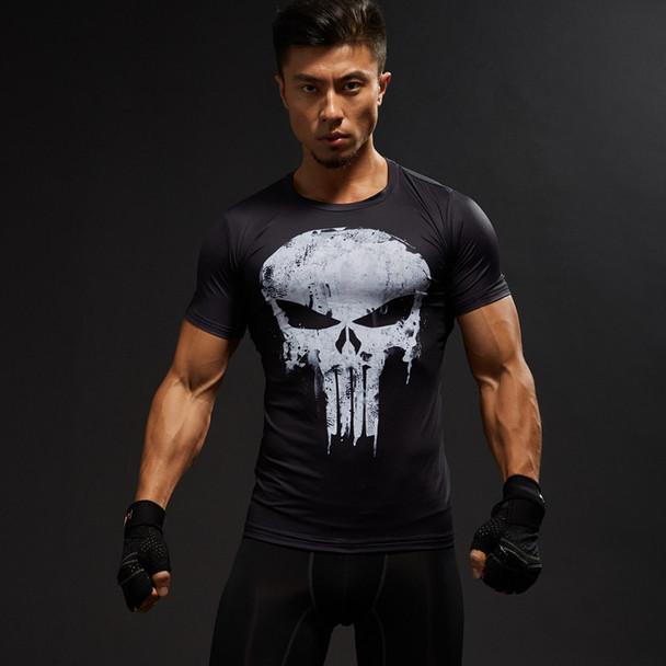 2018 Brand Men Marvel Punisher T Shirt Punisher Short Sleeve T Shirts