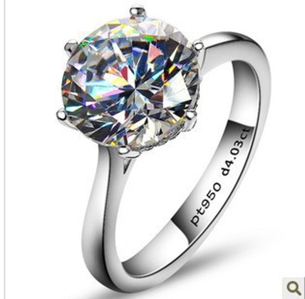 Hot Sale 4 carat Simulated stone weeding rings, women ring, Sterling silver engagement rings
