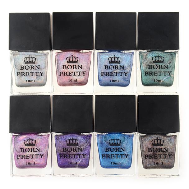 BORN PRETTY 10ml Holographic Glitter Nail Polish High Ingredients Super Shine Manicure Holo Nail Art Vanish Shine in the Dark