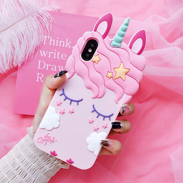 3D Fashion Cartoon Pink Unicorn Soft Silicone Case For Samsung Galaxy S6 S7 Edge S8 PIus J3 J5 J7 2016 2017 Pro Grand Prime