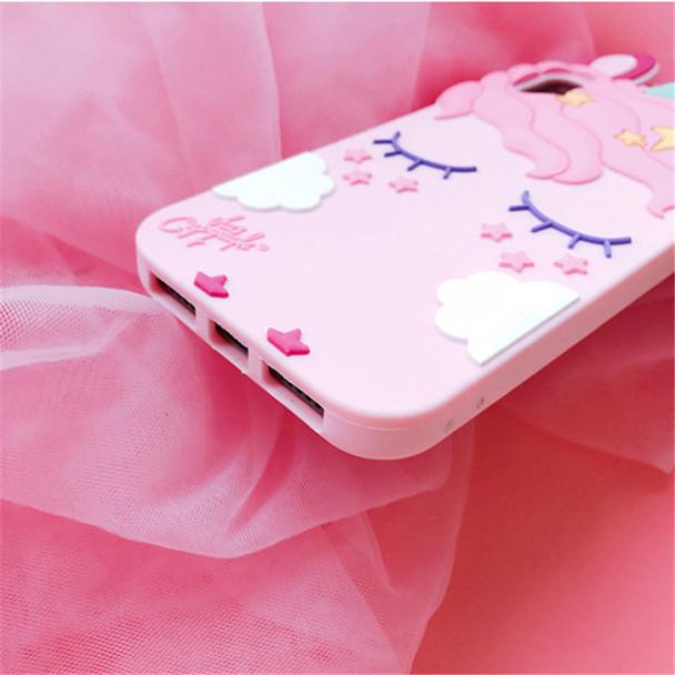 3D Fashion Cartoon Pink Unicorn Soft Silicone Case For Samsung Galaxy S6 S7 Edge S8 PIus J3 J5 J7 2016 2017 Pro Grand Prime