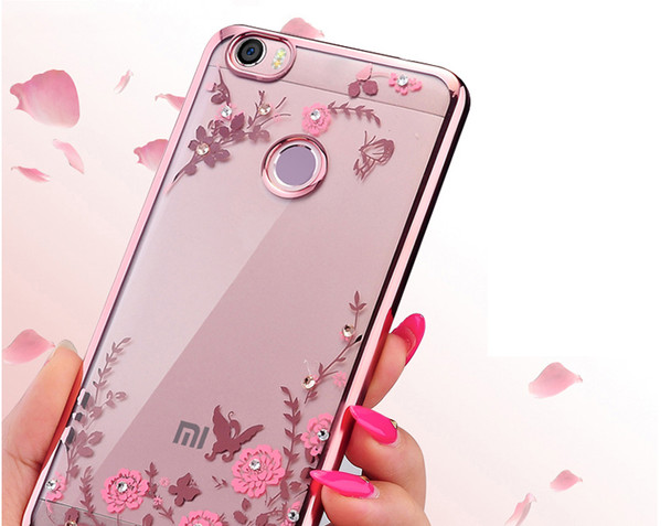 Plating soft tpu case for Xiaomi Redmi Note 5A Pro Prime cover For Xiaomi Redmi Note 4X 4 4 Pro 4A Redmi 5 5 Plus 5A Case Flower