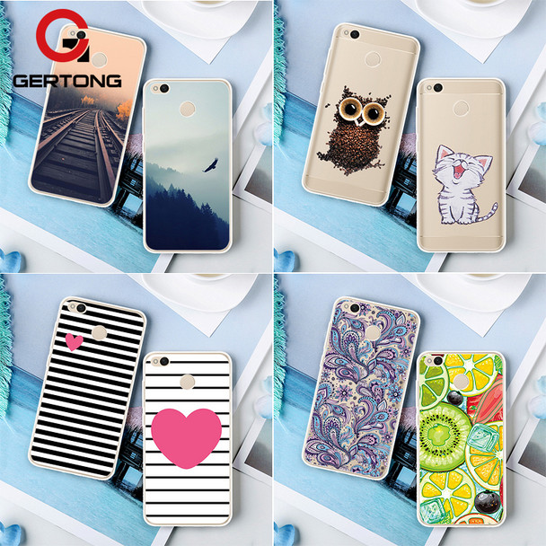 GerTong Phone Back Case For Xiaomi Redmi 4X 4A 4 Pro Prime Note 4 4X Pro 2 3S 3 Pro 3X Mi A1 Mi5X Mix 2 Pattern Soft TPU Cover
