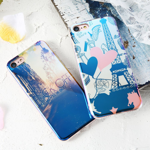 KISSCASE Blue Ray Patterned Case For iPhone 5s 5 SE 6s 6 7 8 Soft Silicone Cute Back Cover Cases For iPhone 6s 6 7 8 Plus Fundas