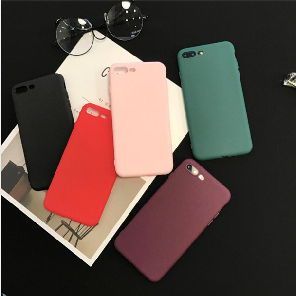 Silicone Soft TPU Cover fitted case for iphone 6 6s 6plus the back case on for iphone 7 7plus 8 8plus colorful for iphone x case