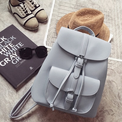 215c1e3c8b Miyahouse Trendy Female Drawstring PU Leather Backpacks Teenage Girls Small  School Bags Women High Quality Casual ...
